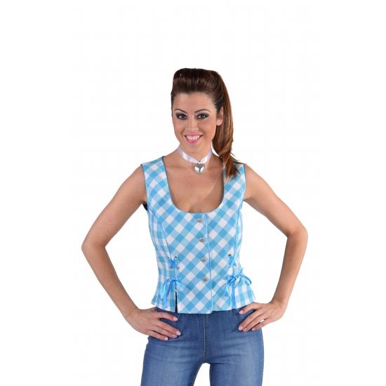 Oktoberfest - Tiroler Oktoberfest shirt mouwloos blauw
