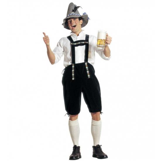 Oktoberfest - Voordelige groene lederhose