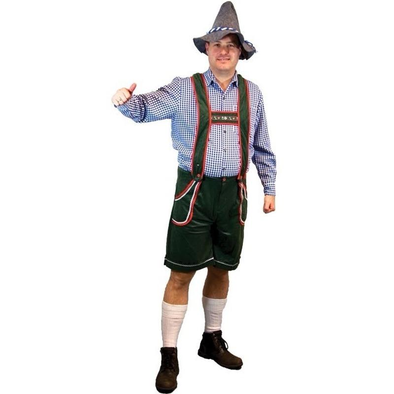 Oktoberfest - Voordelige groene lederhosen