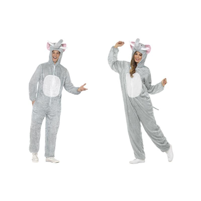 Olifant onesie dierenpak verkleed kostuum voor volwassenen