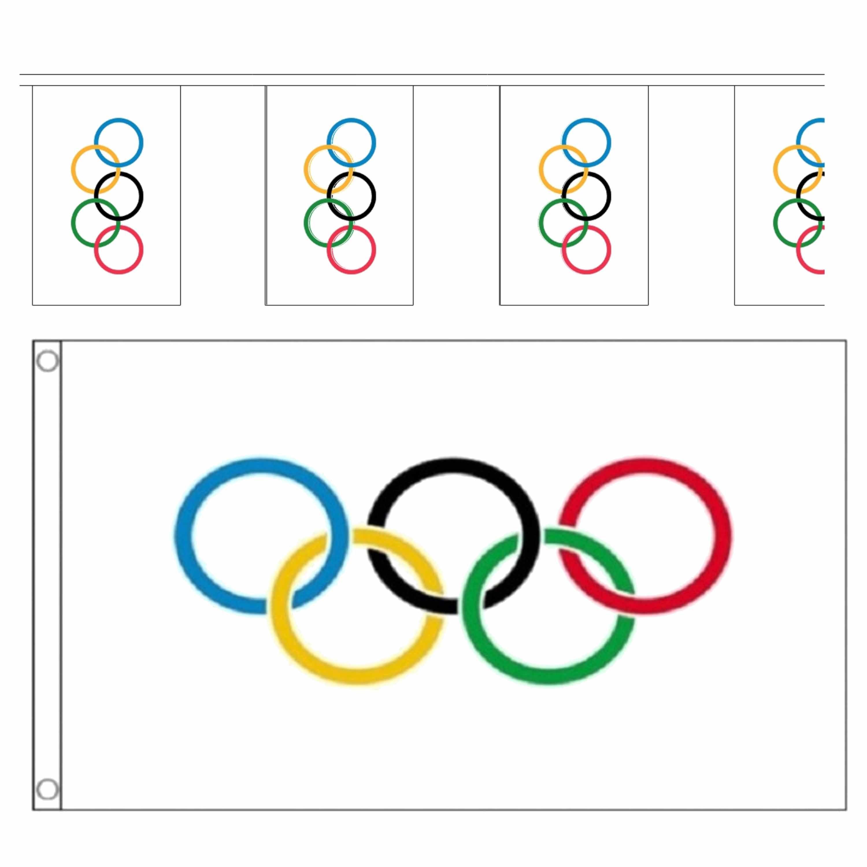 Olympische spelen versiering deco vlaggetjes feestartikelen