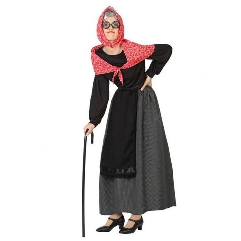 Oma verkleed jurk/kostuum voor dames