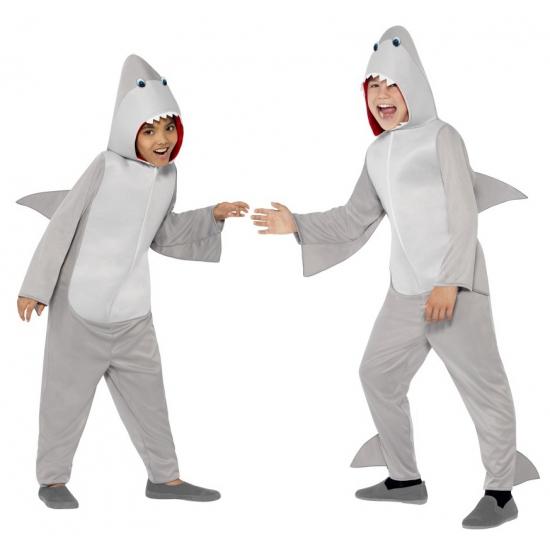 Onesie haai kostuum voor kids
