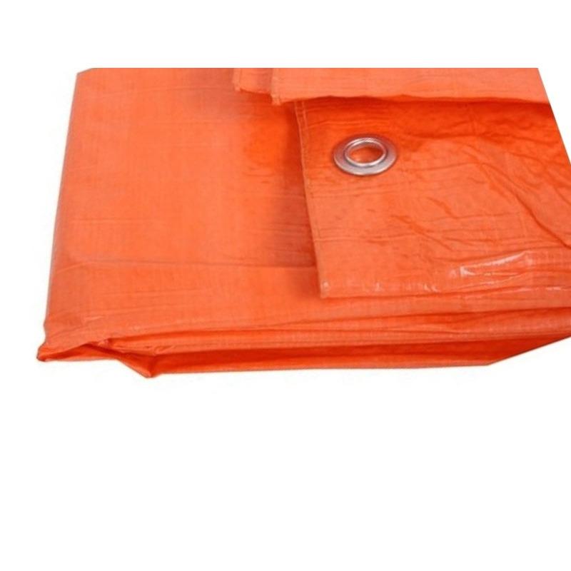 Oranje afdekzeil - dekzeil 3.9 x 4.9 meter