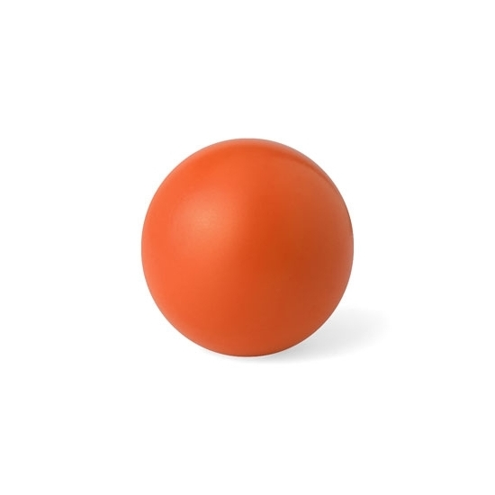 Oranje anti stressbal 6 cm