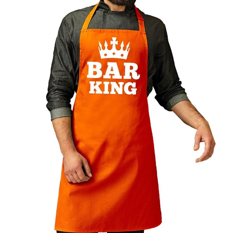 Oranje Bar King keuken schort heren One size -