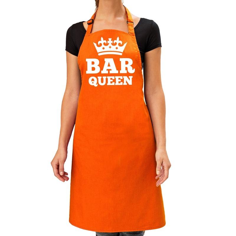 Oranje Bar Queen keuken schort dames One size -