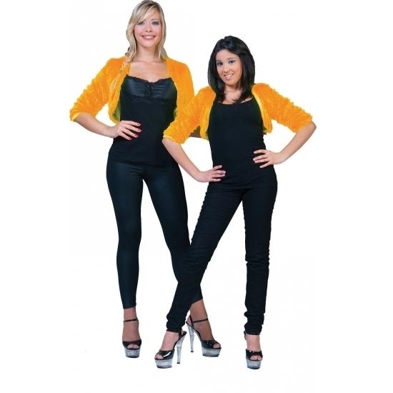Oranje bolero bontjasje voor dames