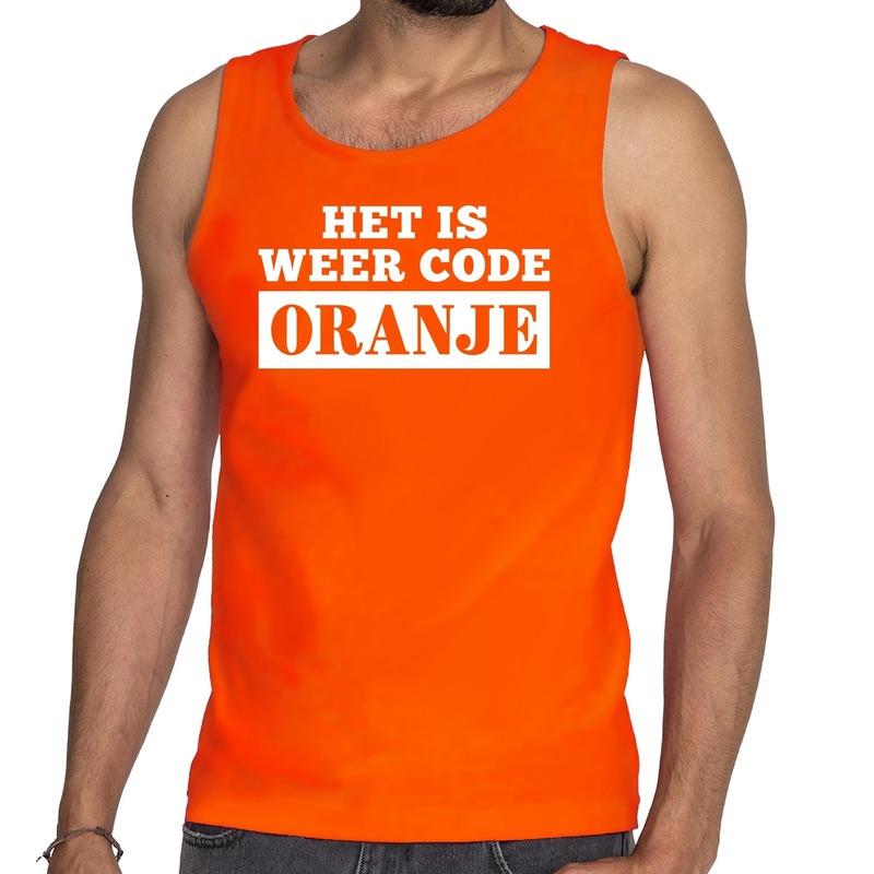 Oranje Code Oranje tanktop - mouwloos shirt heren