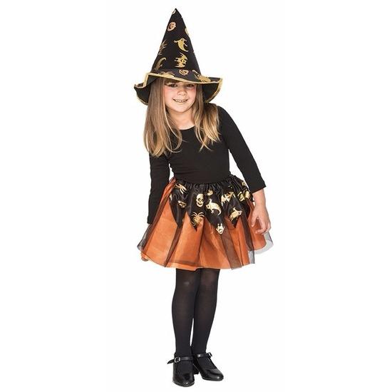 Oranje heksenset voor meisjes