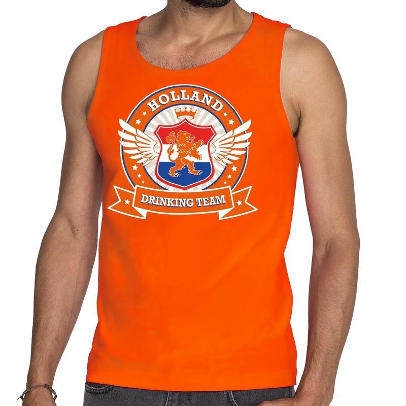 Oranje Holland drinking team tankop - mouwloos shirt heren