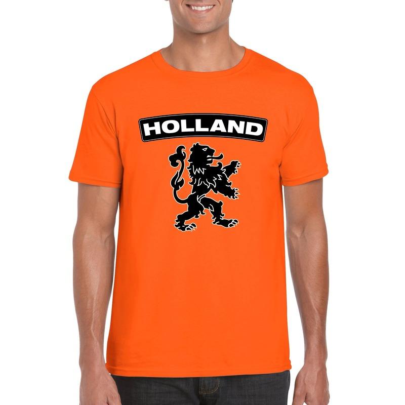 Oranje Holland shirt met zwarte leeuw heren