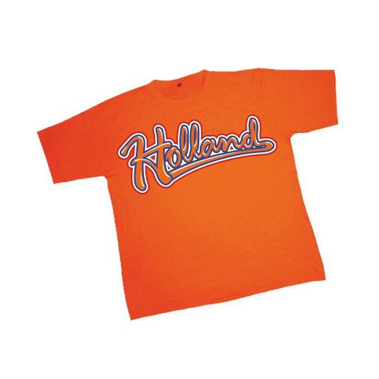 Oranje Holland t-shirt heren