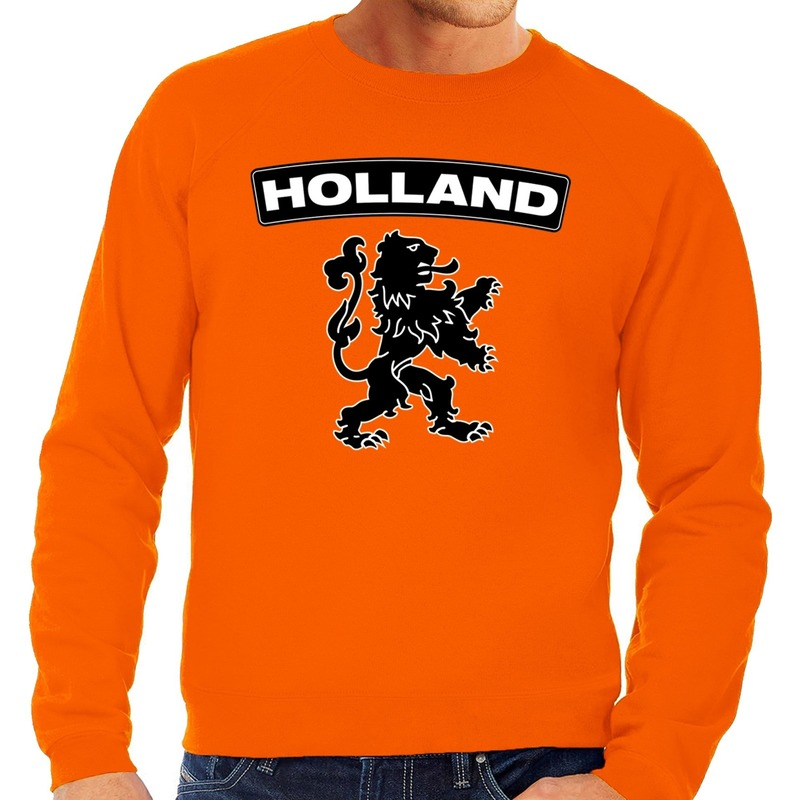 Oranje Holland zwarte leeuw sweater heren