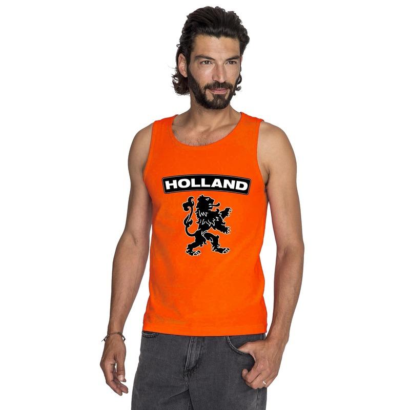 Oranje Holland zwarte leeuw tanktop heren