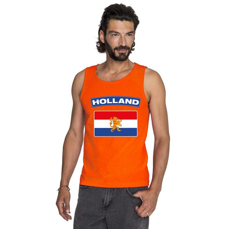 Oranje Hollandse vlag tanktop heren