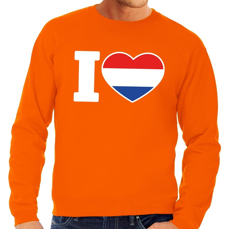 Oranje I love Holland sweater heren