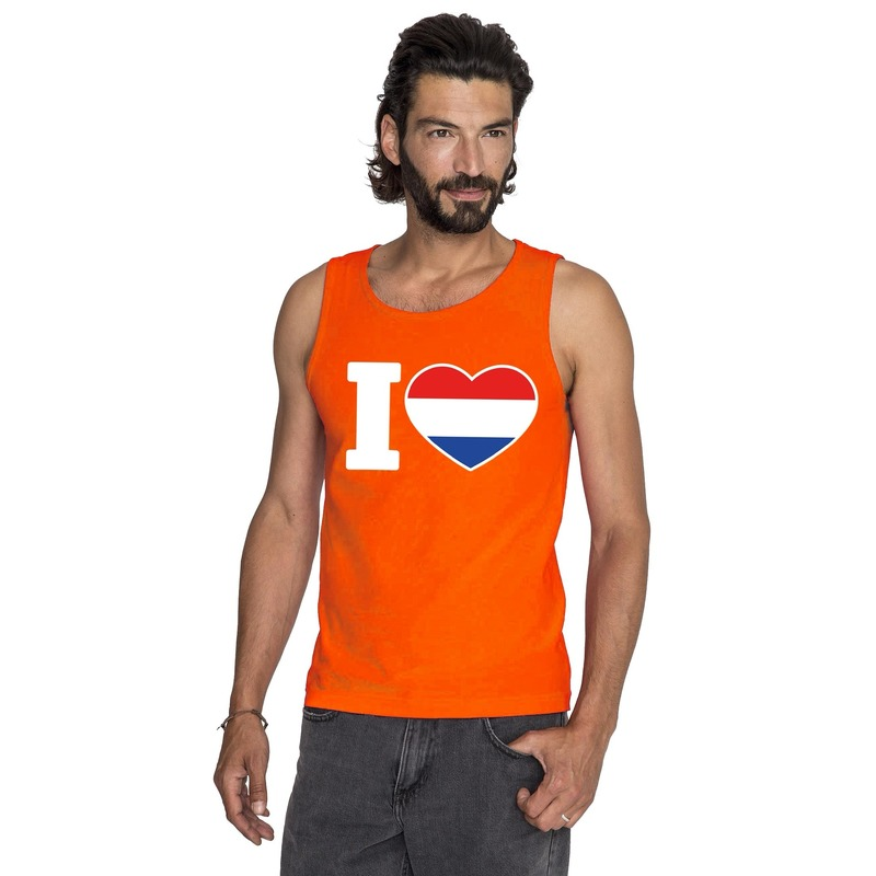 Oranje I love Holland tanktop heren
