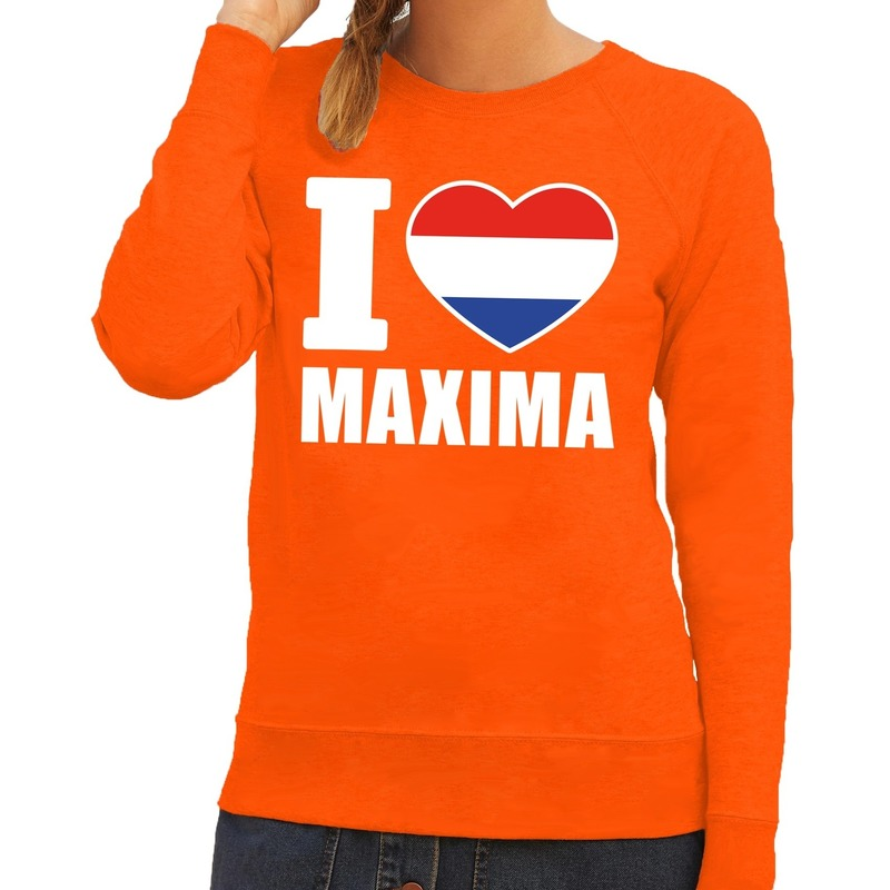 Oranje I love Maxima sweater dames