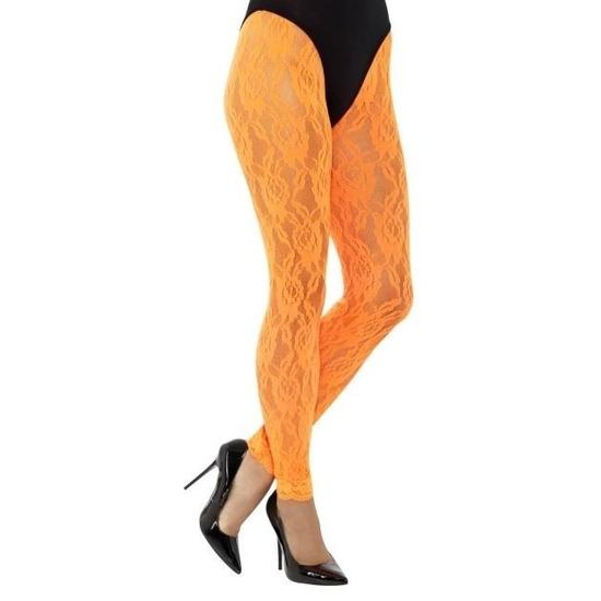 Oranje jaren 80 panty voor dames