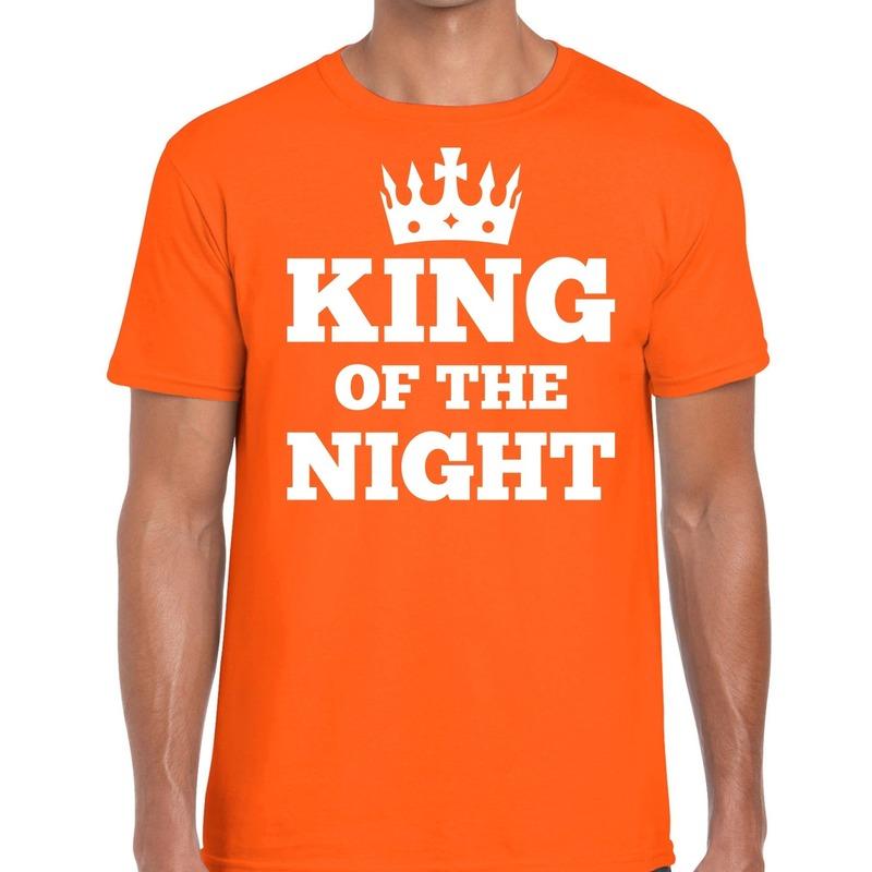 Oranje King of the night t-shirt heren