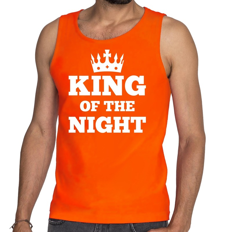 Oranje King of the night tanktop - mouwloos shirt heren
