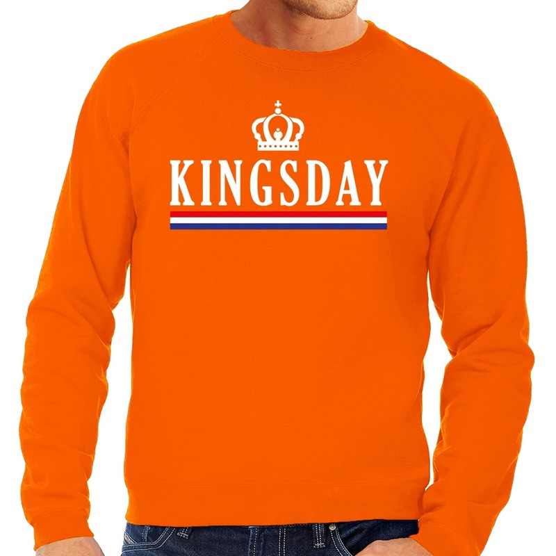 Oranje Kingsday sweater voor heren