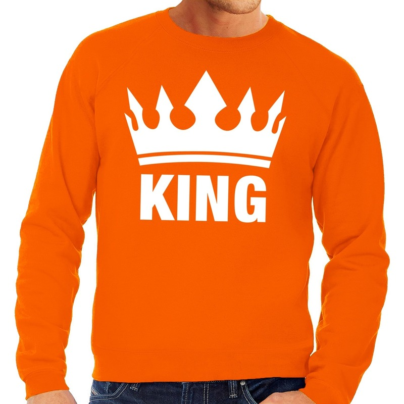 Oranje Koningsdag King sweater heren