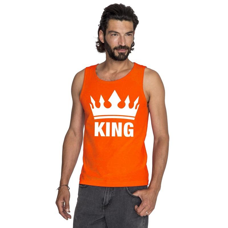 Oranje Koningsdag King tanktop heren
