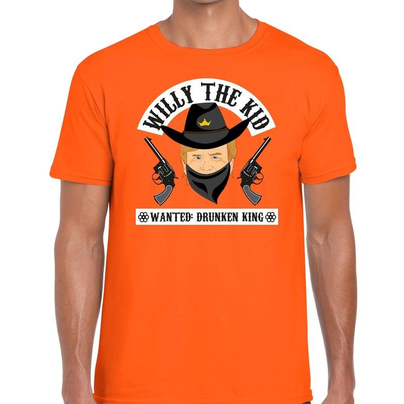 Oranje Koningsdag Willy the Kid t-shirt heren