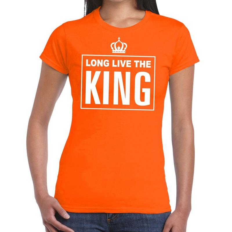 Oranje Long live the King Engels t-shirt dames