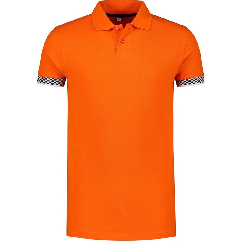 Oranje polo shirt racing/Formule 1 voor heren