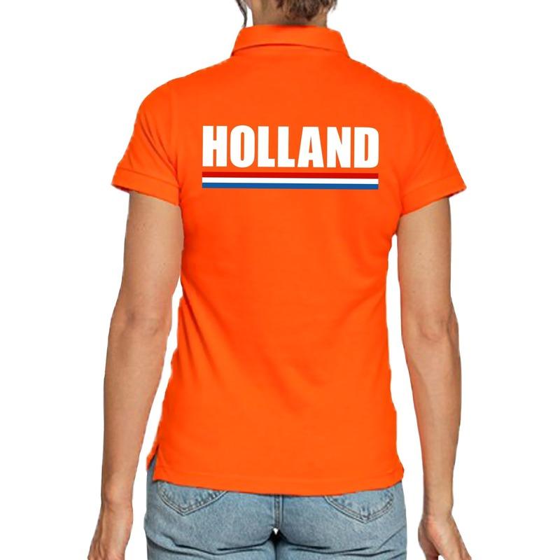 Oranje poloshirt Holland voor dames