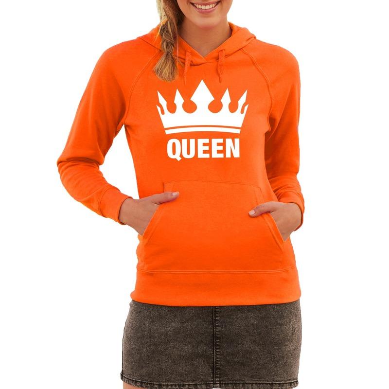 Oranje Queen hoodie dames