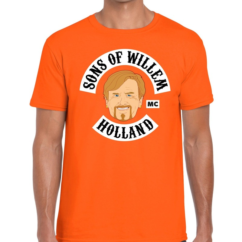 Oranje Sons of Willem t-shirt heren