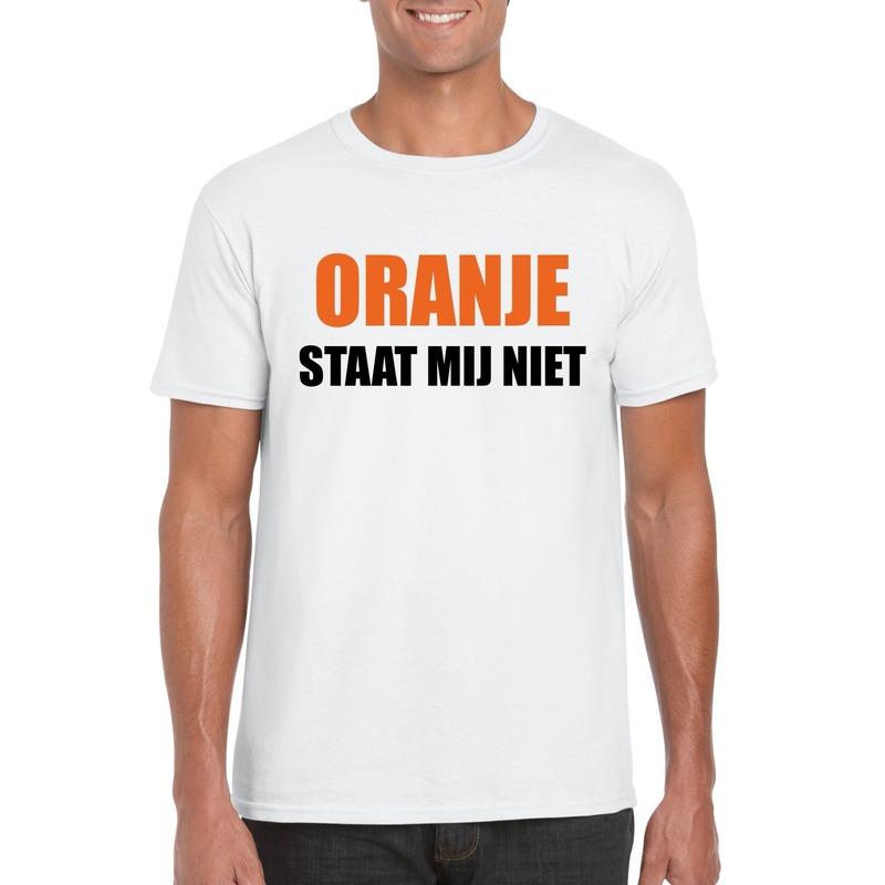 Oranje staat mij niet t-shirt wit heren