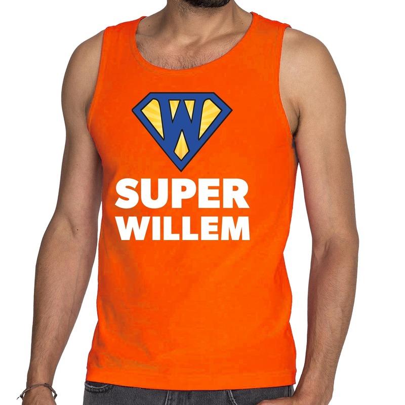Oranje Super Willem tanktop - mouwloos shirt voor heren