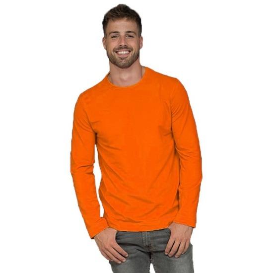 Oranje t-shirt lange mouw