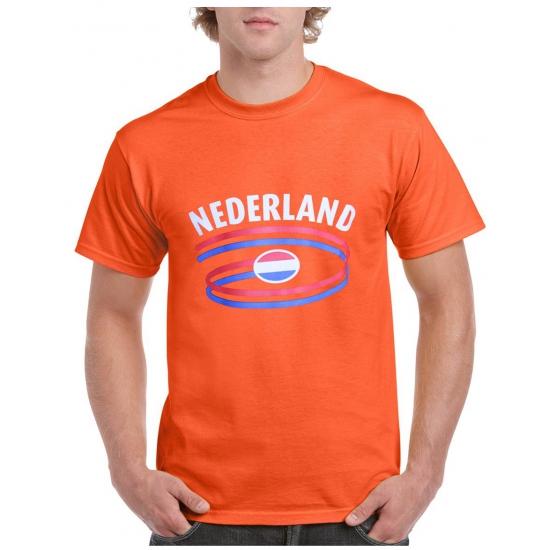 Oranje t-shirt Nederland heren