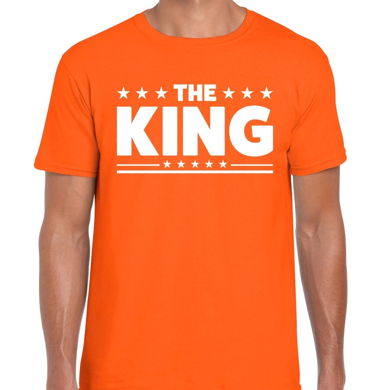 Oranje t-shirt The King heren