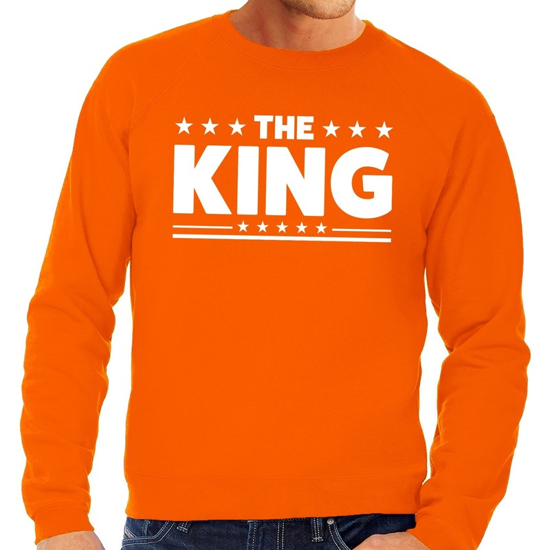 Oranje The King vlag sweater heren