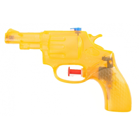 Oranje transparant waterpistool 13 cm