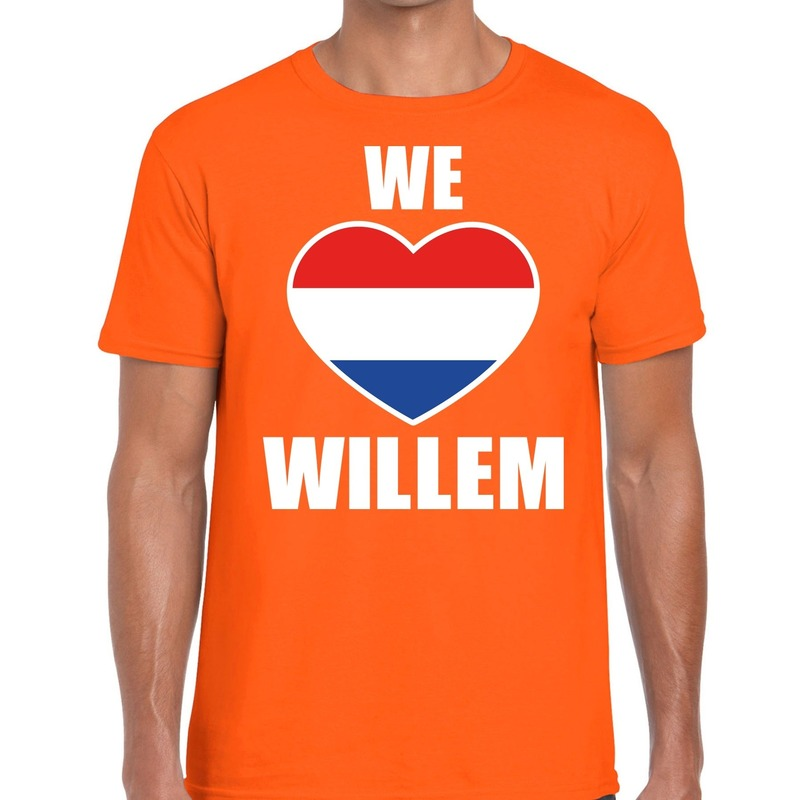 Oranje We Love Willem t-shirt voor heren