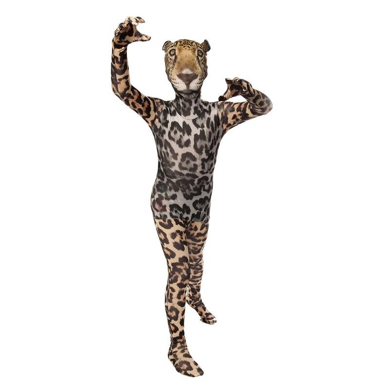 Originele morphsuit luipaard voor kinderen