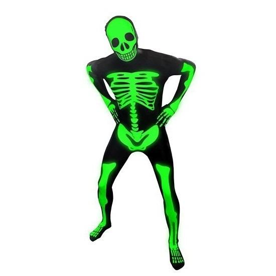 Originele morphsuit skelet print