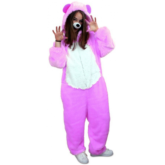 Paars beren kostuum voor volwassenen
