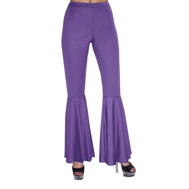 Paarse hippie broek voor kinderen