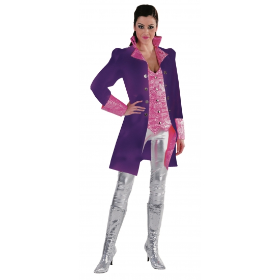 Paarse theater jas voor dames