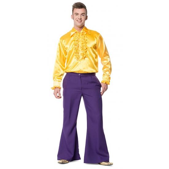 Paarse wijd uitlopende verkleedbroek voor heren