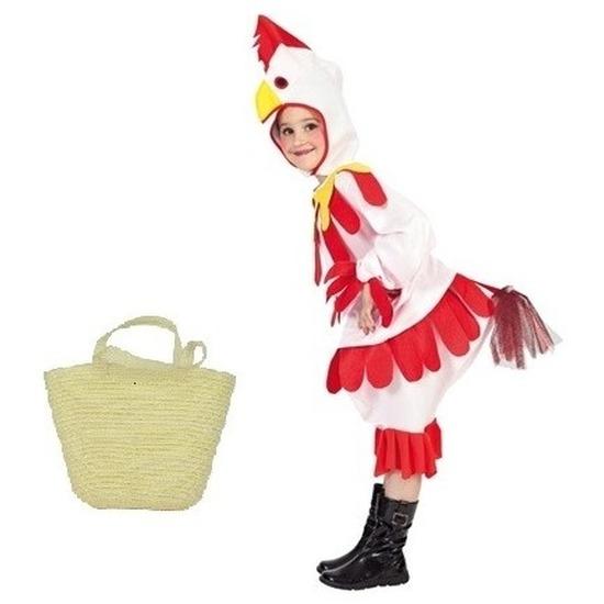 Paaskip kostuum maat 120-130 met paasmandje voor kinderen